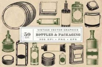 Vintage Bottles & Packaging Graphics 1327349 3