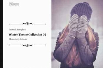 Winter Theme Color Grading Photoshop Actions Collection 02 3513223 5
