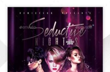 Seductive Nights Flyer Template 22760762 4