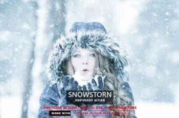 Snowstorm Photoshop Action 3514921