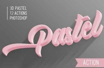 3D Pastel Photoshop Action 22992157 3