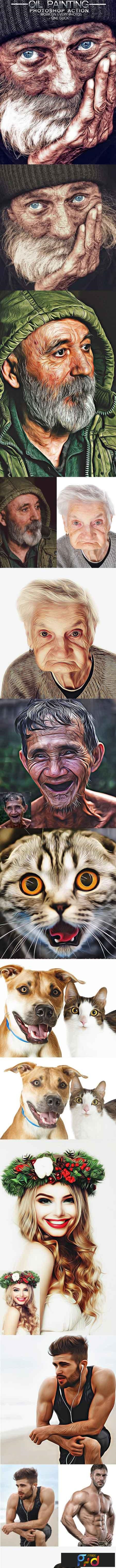 Oil Painting Photoshop Action 22982188 1