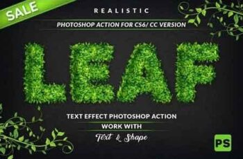Leaf Text Effect Photoshop Action 3193889 6
