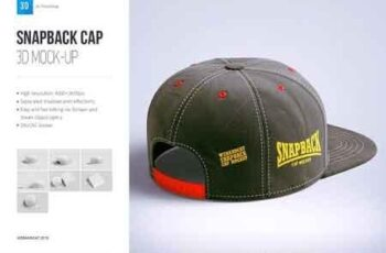 Snapback Cap 3d Mockup 2792440 2