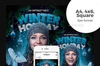 Winter Holiday Flyer 22847288 3