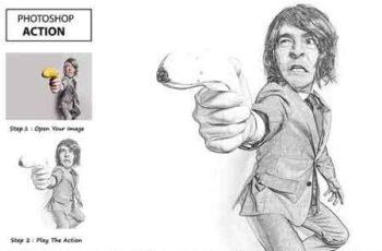 Pencil Sketch - Photo Shop Action 3193459 7