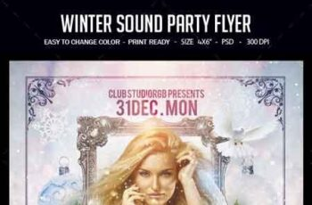 Winter Sound Party Flyer 22827157 7