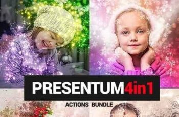 Presentum - 4in1 Photoshop Actions Bundle 22885539 4