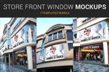 Store Front Window Mock-Up Bundle 2 22871266 5