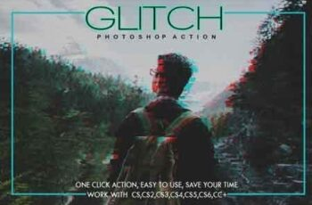 Glitch Photoshop Action 3515110