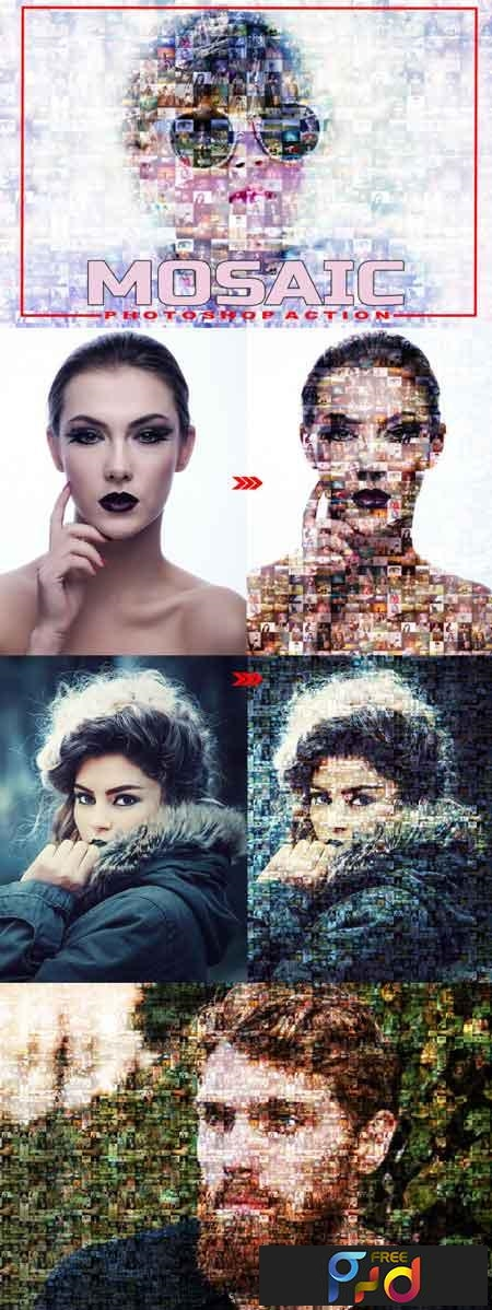 Mosaic Photoshop Action 3512234 1