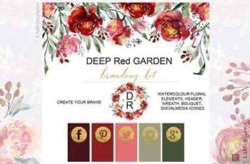 Deep red garden Branding kit 2595971 4