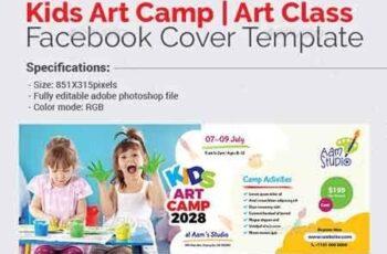 Kids Art Camp Facebook Cover Template 22820475 3