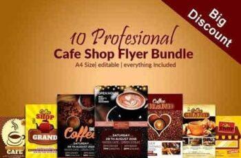 10 Cafe Ad Flyer Poster Bundle 2882419 2