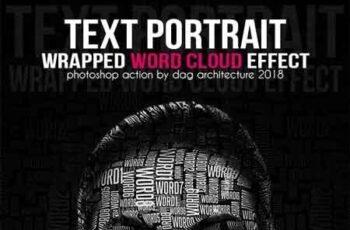 Text Portrait Action - Word Cloud Style 23042919 7
