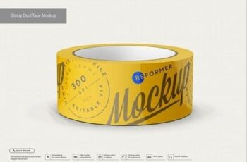 Glossy Duct Tape Mockup 3509433 12
