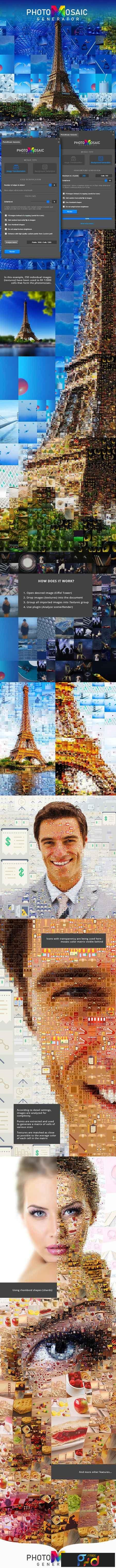 PhotoMosaic Generator - Photoshop Extension 23019920 - FreePSDvn