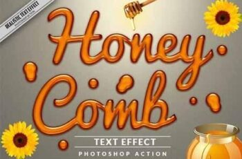 Honey Text Effect Photoshop Action 3211912 3