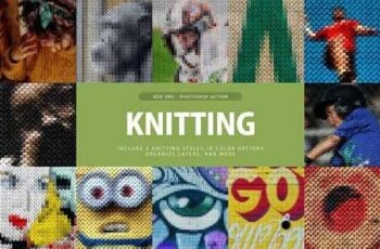 Knitting Photoshop Action 3292963 5