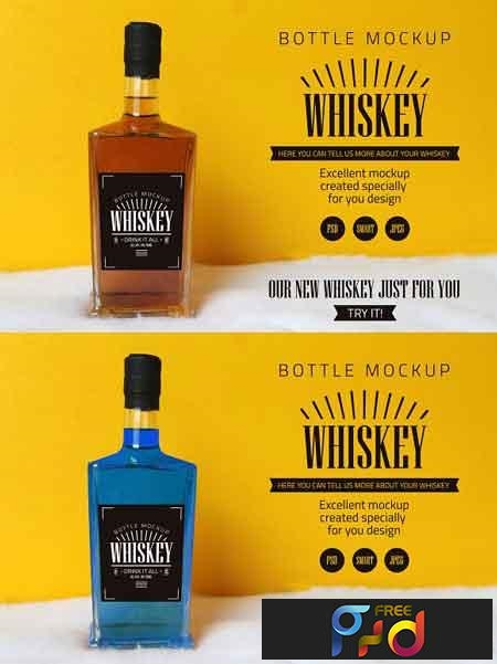 Whiskey bottle mockup 3188036 1