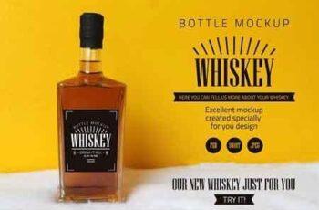 Whiskey bottle mockup 3188036 4