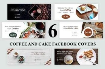 Coffee and Cake Facebook Covers - SK 3192462 4