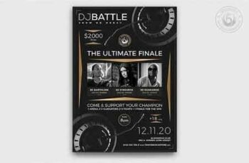 DJ Battle Flyer Template V6 3187578 7