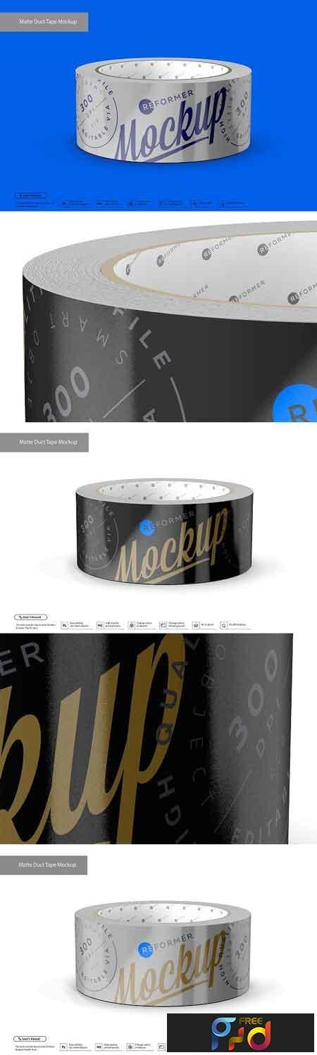 Matte Metallic Duct Tape Mockup 3202473 1
