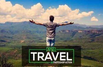 20 Pastel Travel Photoshop Action 3517449 7