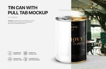 Tin Can Mockup Set 3137863 7