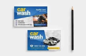 Car Wash Business Card Template 3195548 8
