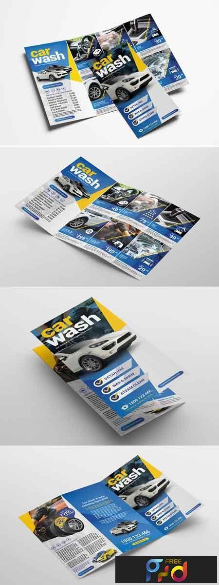 Car Wash Trifold Brochure Template 3195553 1