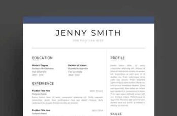 Resume Template Word Modern Clean CV 2684483 2