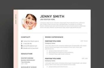 Resume Template Word Modern Clean CV 2684486 1