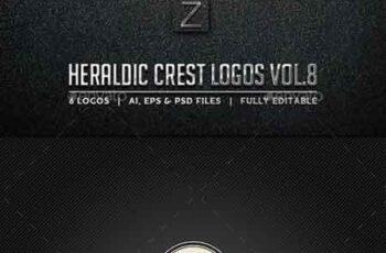 Heraldic Crest Logos Vol.8 10723321 5