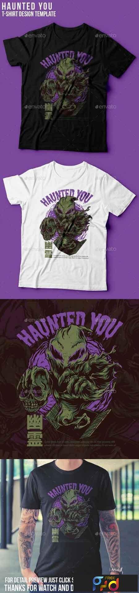 Haunted You T-Shirt Design 22765693 1