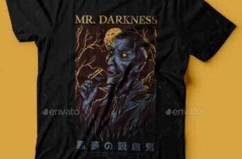 Mr. Darkness T-Shirt Design 22765649 5