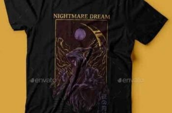 Nightmare Dream T-Shirt Design 22765707 2
