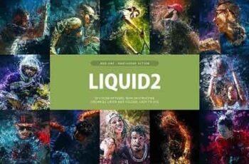 Liquid 2 Photoshop Action 3310587 6