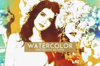 Watercolor Photoshop Actions 1201680 6