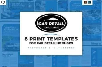 Car Detailing Templates Pack 2959609 2