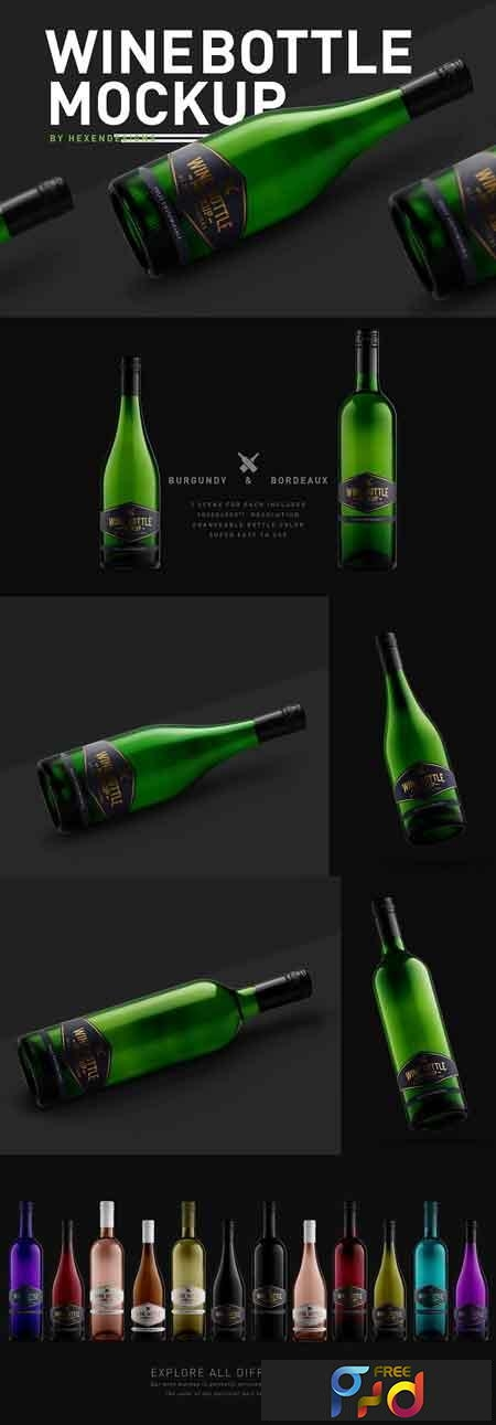 Wine Bottle Mockup 3207209 1