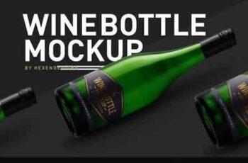Wine Bottle Mockup 3207209 4