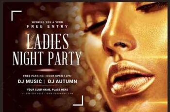 Ladies Night Party Flyer 22871346 5