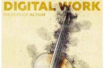 Digital Work Photoshop Action 23053883 6