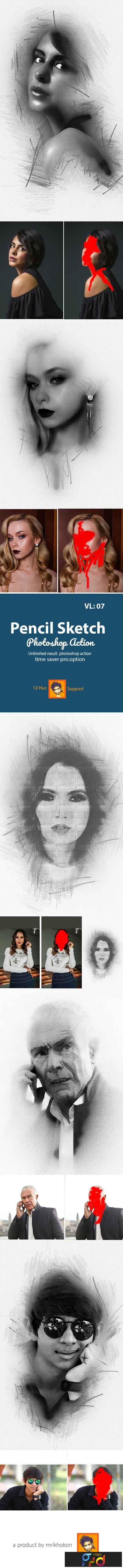 Pencil sketch photoshop action 23048429 1
