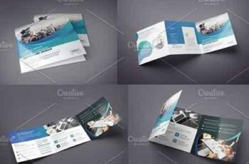 Gradient Square Tri-Fold Brochure 2940235 8