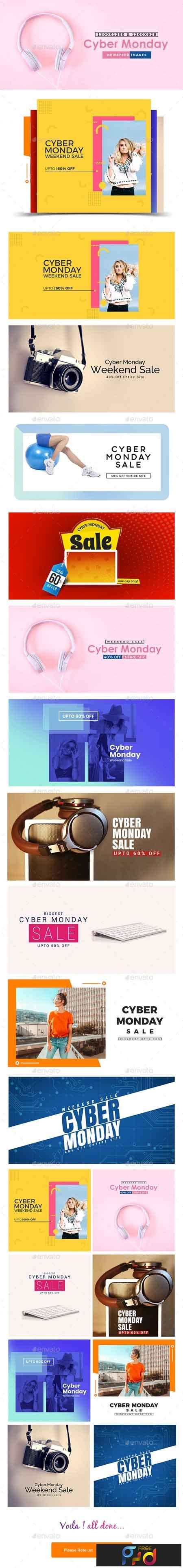 Cyber Monday Sale Facebook and Instagram Newsfeed Banners - 10