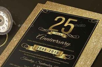 Elegant Anniversary Invitation 18191891 5