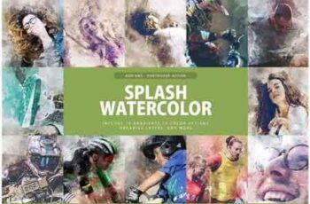 Splash Watercolor Photoshop Action 3277527 3